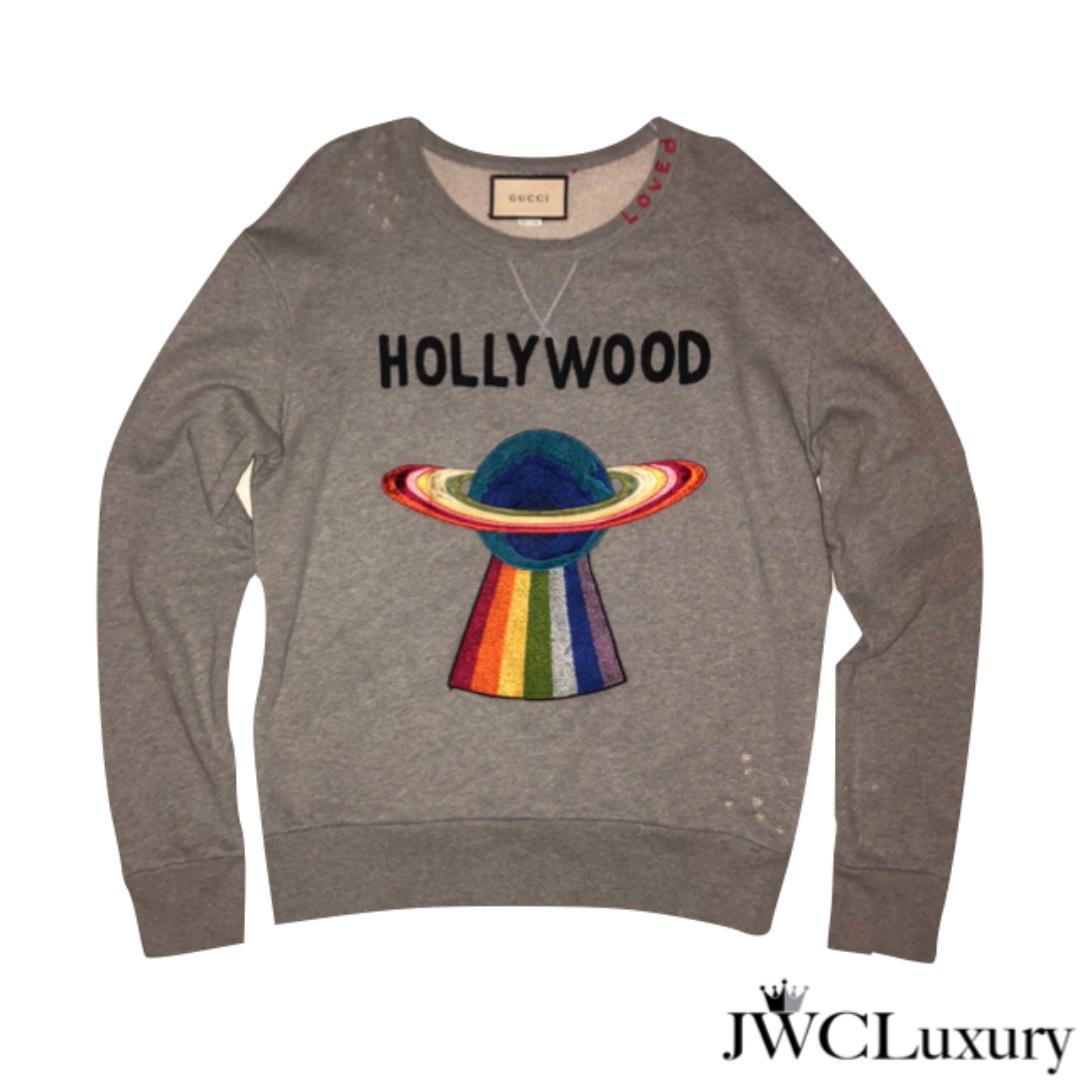 03decbc9 Gucci UFO Gray Sweatshirt, Men's Fashion, Clothes, Tops on Carousell