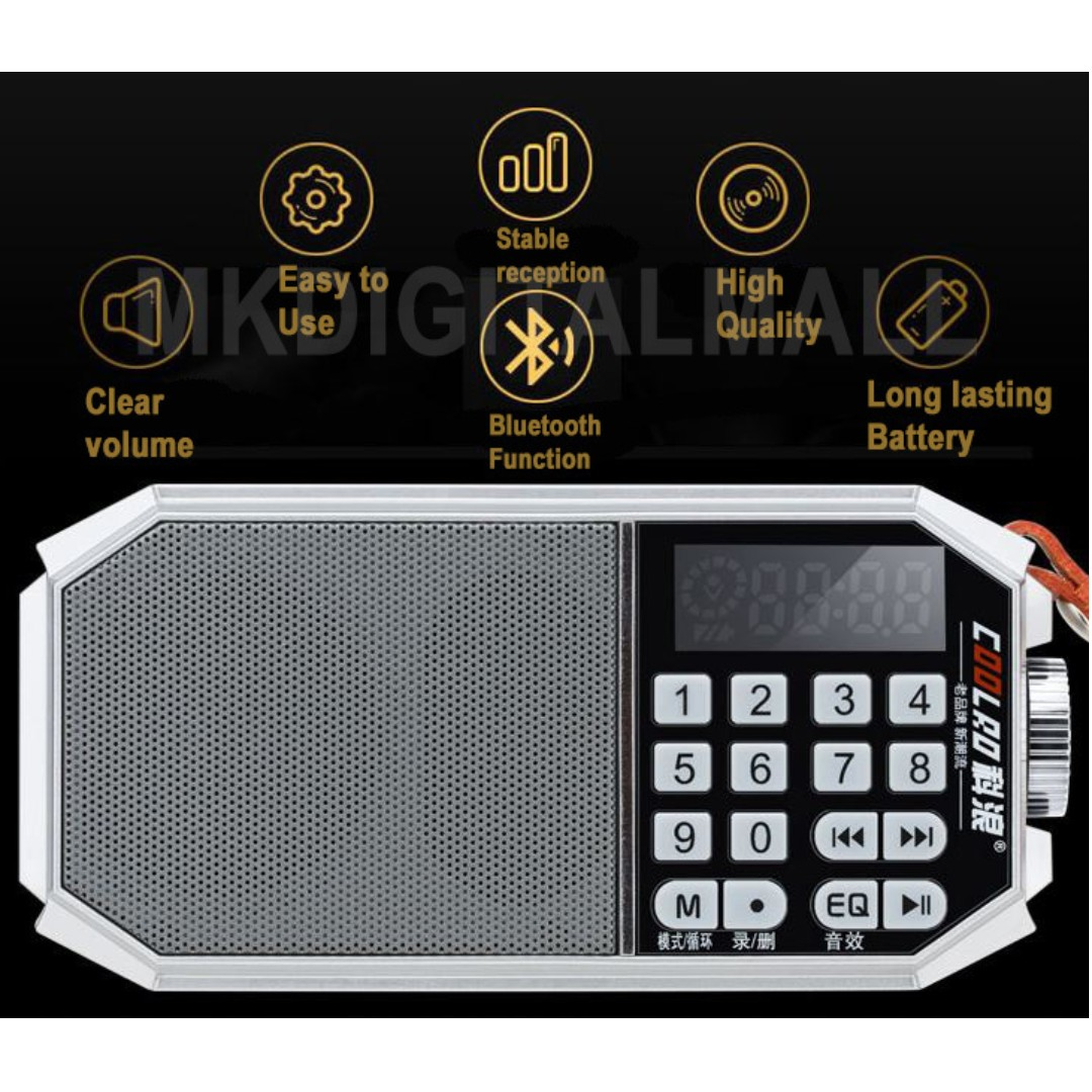 H21 Radio Retro Design with Equalizer Function for better Sound Quality