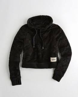 Hollister Sherpa Cowlneck Cropped Sweater