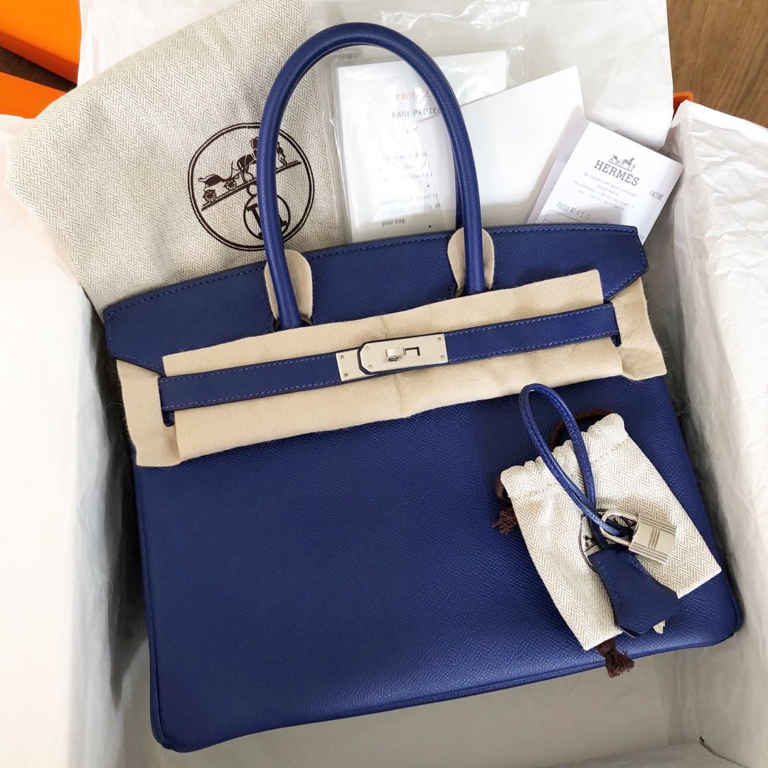 838cc0757d5d Like New Authentic Hermes Birkin 30 Blue Electric Epsom Phw R stamp ...