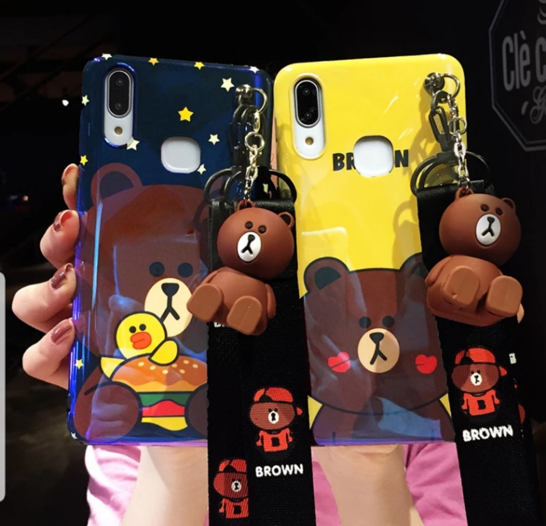 outlet store 7dd64 abc03 Line Brown Bear Vivo Phone Case