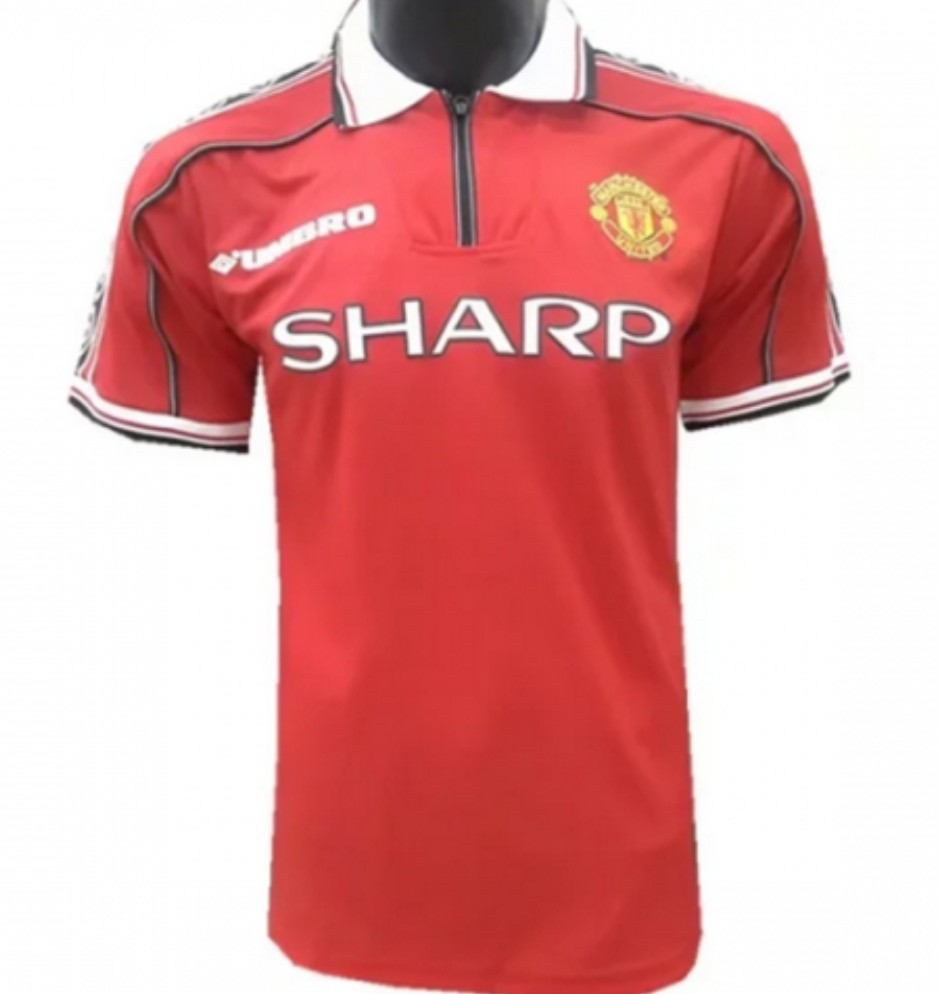 911937673 Classic Child Manchester United Umbro Jersey (98 99 Treble)