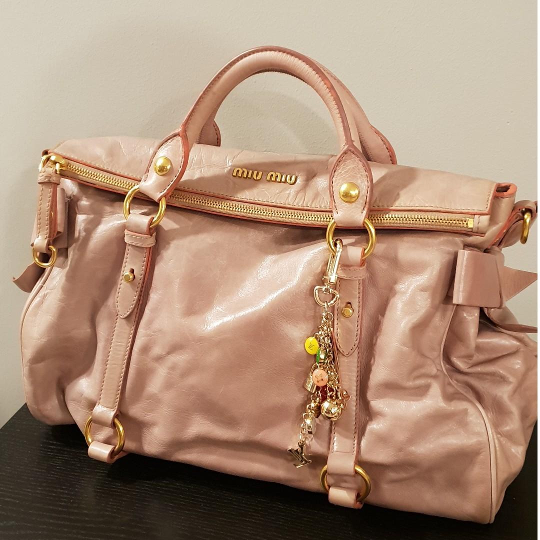 386dabfae55d Miu Miu Pink Ribbon Bag 真皮手袋 (Authentic with cert)