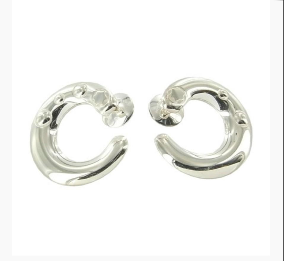MONT BLANC Embracing Star Silver Earrings
