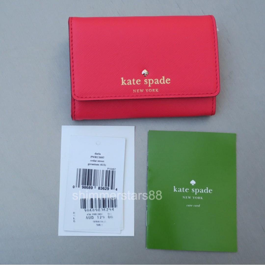 New! Kate Spade Darla Card Coin Wallet Purse RRP$129