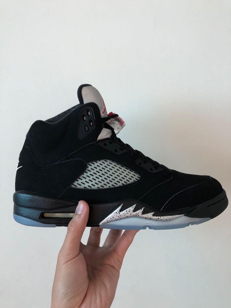292a1fa52ffa Nike Air jordan 5 aj5 retro og metallic black US 11 UK 10