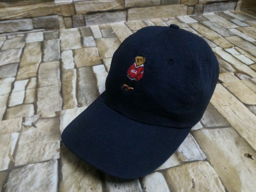24b02c88355 Ori Polo sport bear Ralph Lauren Cap topi