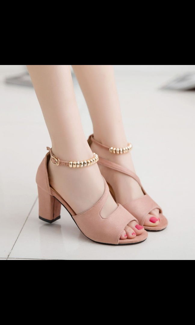 6bf2f3b816f PO) 2018 summer new sandals female pump shoes korean style block ...