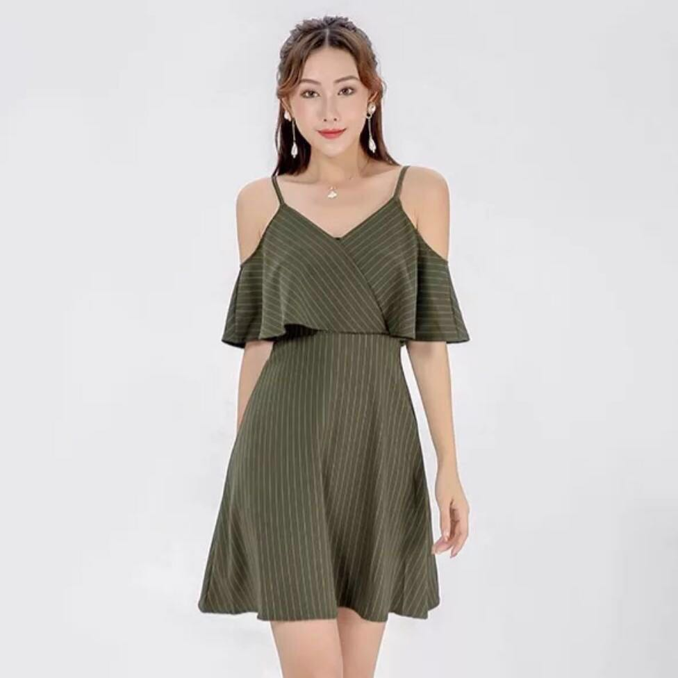 fe124443430e 🌷(PO) Penelope Striped Off Shoulder Dress