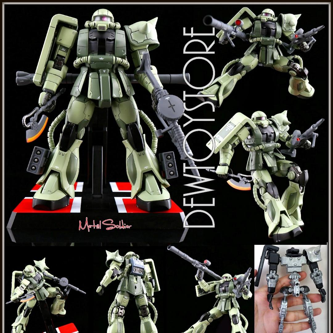 GUNDAM METAL SOILDER MS01 mb Zaku Action Figure Model 1//100 Scale Red Suit Ver.