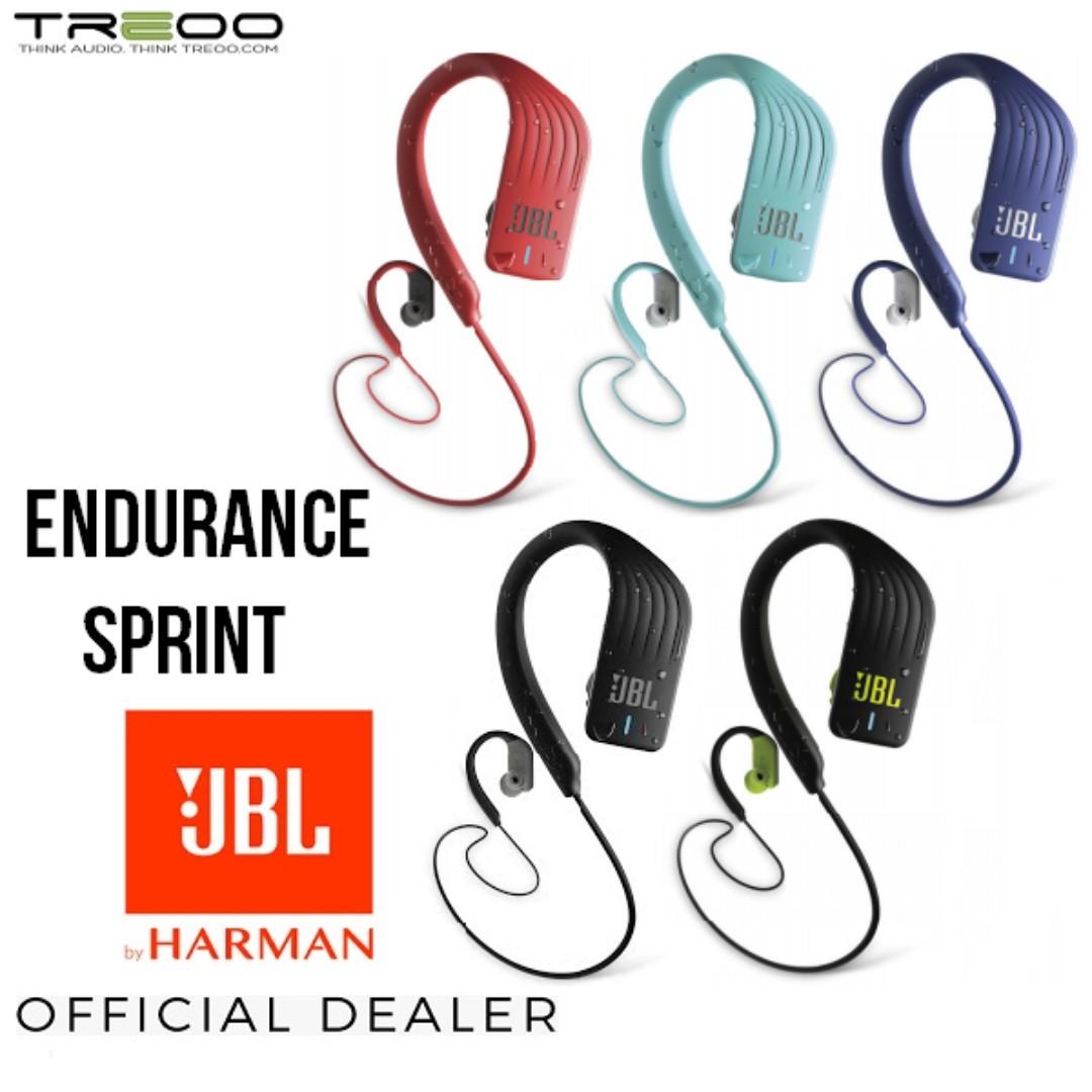 Promo Jbl Endurance Sprint Waterproof Wireless Bluetooth In Ear Earphone With Microphone Electronics Audio On Carousell