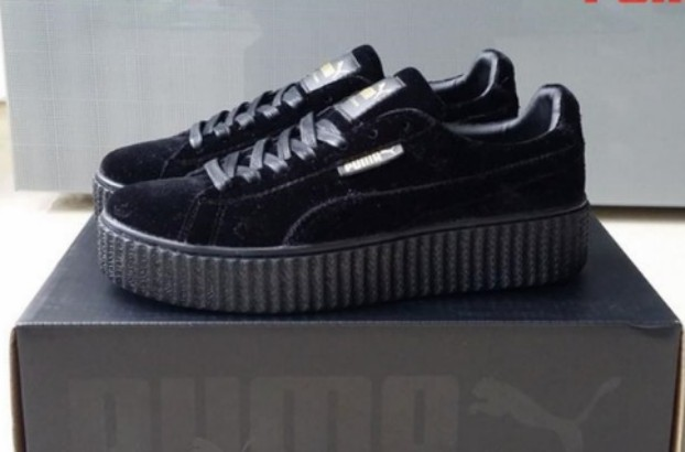 newest collection c4ff3 faf4c Puma Creepers Fenty Black Suede, Women's Fashion, Shoes ...