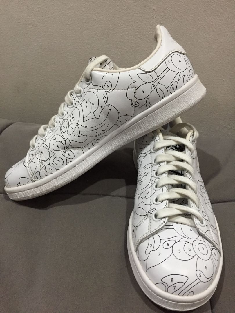 4b2ff3d060730d ️REDUCED PRICE‼ AUTHENTIC Adidas Stan Smith Doodle Size US 7 1 2 ...