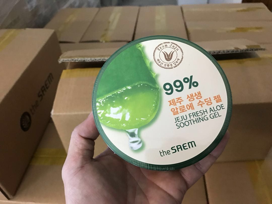 Saem Jeju Aloe Vera Soothing Gel 99 Health Beauty Face Skin The Shooting Care On Carousell