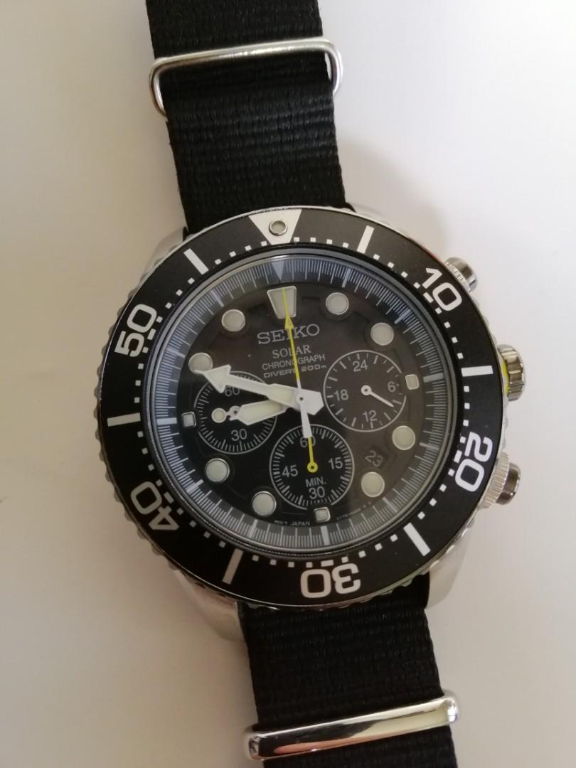 Seiko solar diver chronograph SCC021