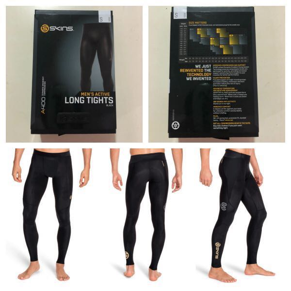 8bf988b68df58 Skins A400 Dynamic Gradient Compression Long Tights, Sports, Sports Apparel  on Carousell