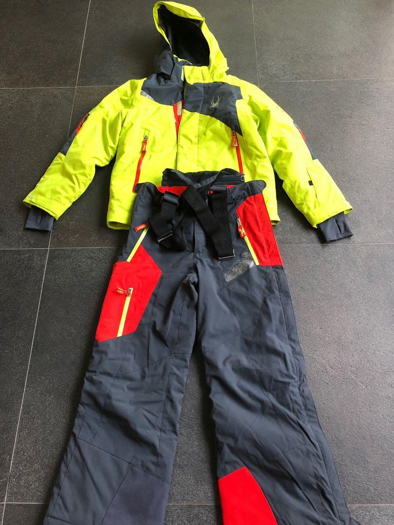 Spyder Boys Rival Ski Jacket and Avenger Ski Pants Size 10 563aa6654