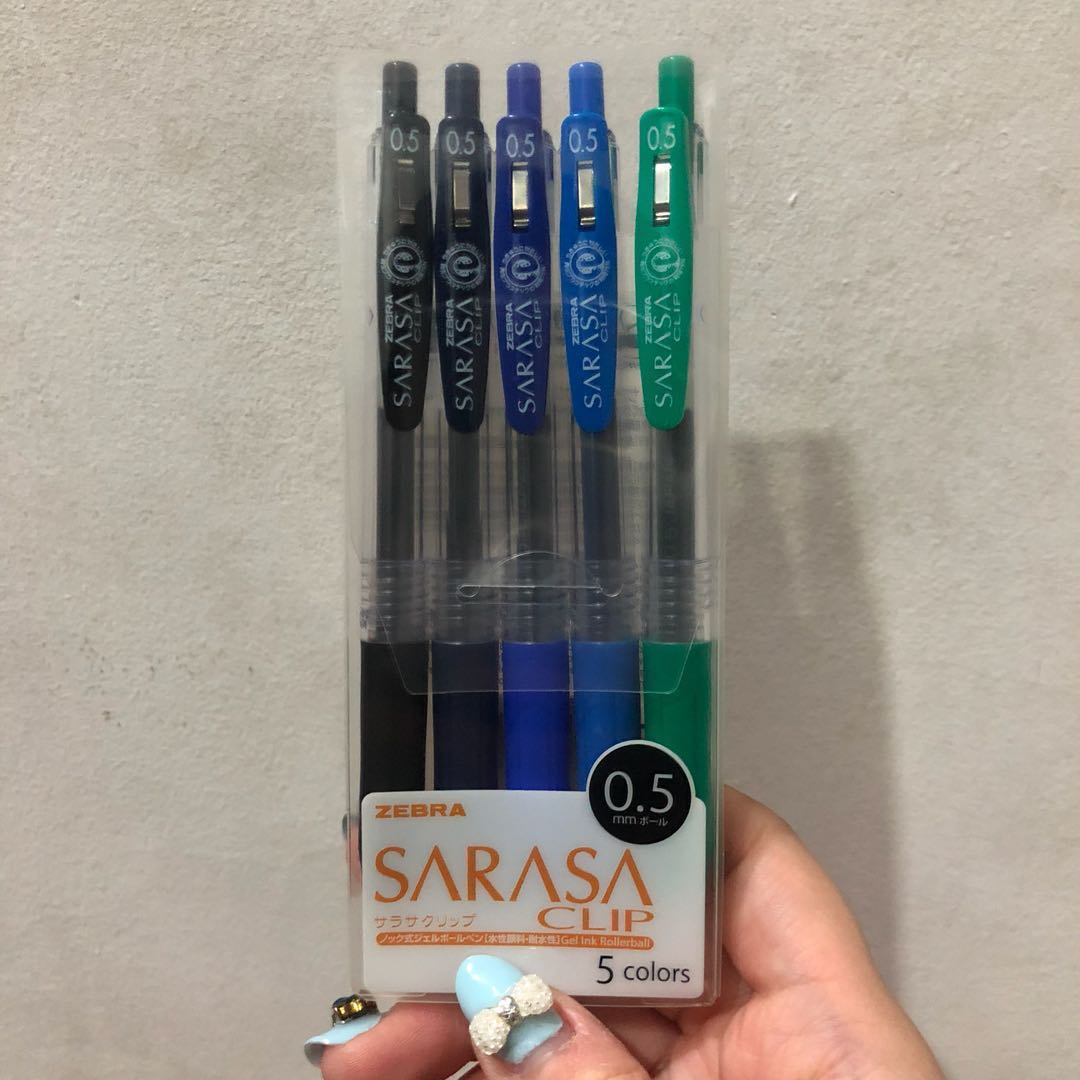 9f1427fcceaa Zebra Sarasa Clip Gel Ink Pen 0.5mm (5-colour set) JJ15-5CB, Books ...