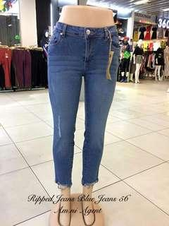 Ripped jeans pant bluejeans 56