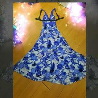 Backless flowy sexy maxi long dress