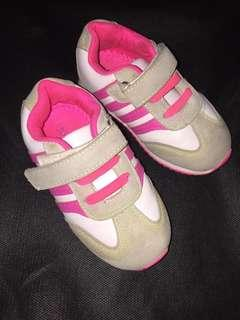 Sepatu Like Adidas strip 3 Pink, size 23