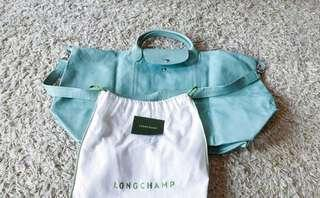 Longchamp cuir large with strap, card and dustbag