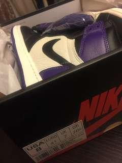 Jordan 1 court purple us8