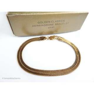 Avon Golden Herringbone Chain Bracelet, br160