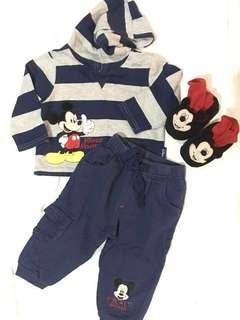 Original mother care set jacket,pants&shoes