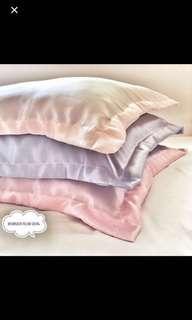 Satin pillow or bolster cases
