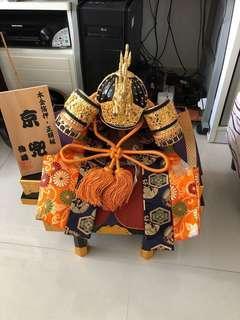 日本回流五月人形武士頭盔擺件