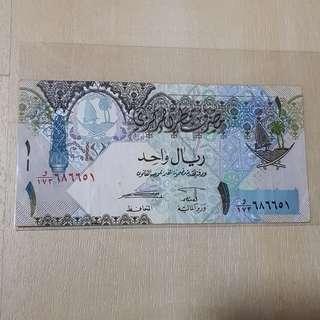 2003 Series Qatar 1 Riyal Banknote