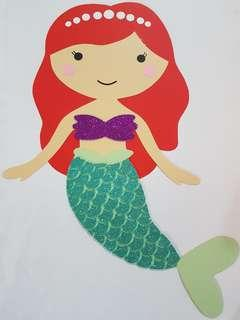 Handmade Mermaid Picture for Party Decor