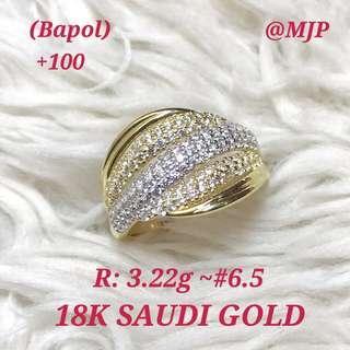 18K SAUDI GOLD RING PAWNABLE