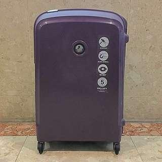 Delsey Belfort 76cm 4-Wheel Luggage (Purple)