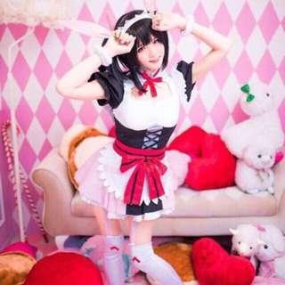 LOVE LIVE Nico Yazawa Mogyutto Maid Cosplay Costume
