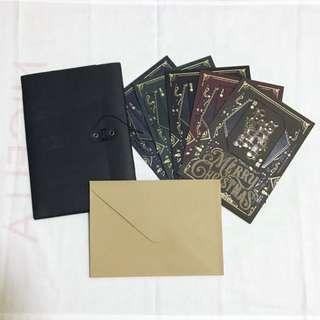 🚚 PapyPress Letterpress Printed Poker Cards Christmas Xmas Cards Set