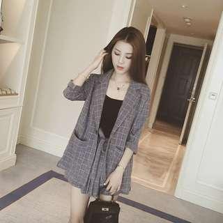 🚚 PO: Cadyna's Three Piece Blazer Shorts and Top Set (Korean Fashion)