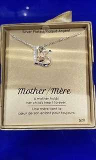 LA Rocks silver plated mother necklace