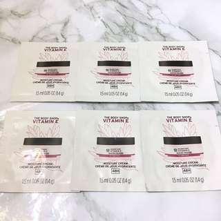 6x 維他命E 48小時補濕面霜 The Body Shop Vitamin E 48H Moisture Cream 1.5ml Sample