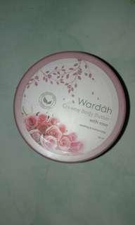wardah creamy body butter with rose