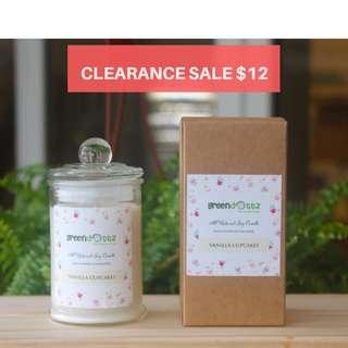 SOLD OUT CLEARANCE SALE SCENTED SOY CANDLES - VANILLA
