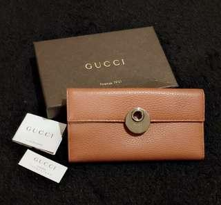 NBU Gucci long wallet full leather with controlatto,booklet,box