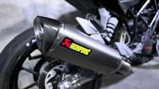 Original Akrapovic muffler & piping for KTM Duke 200/250