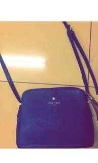 🚚 藍色側背包