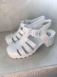 Juju authentic white low heels