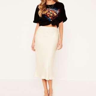 Glassons Silky Midi Skirt (size 6 Subtle Sand)