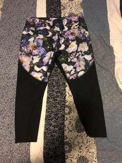 Nike floral sports tights 3/4