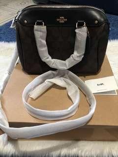 Authentic COACH MINI BENNETTE SATCHEL@IN SIGNATURE (COACH F58312).