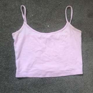 supre light pink croptop, size xs